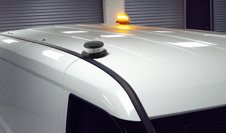 Rotorlichten en roterende waarschuwingslampjes om de aandacht te vestigen op werkzaamheden.